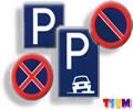 trafik duraklama ve park etme işaretleri
