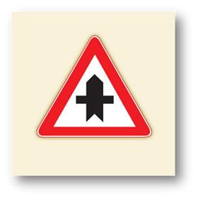 trafik tehlike uyarı işaretleri ana yol tali yol kavşağı