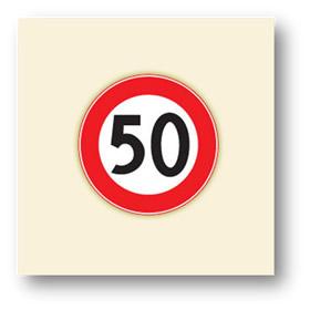 trafik tanzim işaretleri azami hız sınırlaması