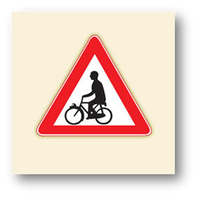 trafik tehlike uyarı işaretleri bisiklet geçebilir