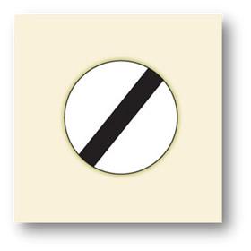 trafik tanzim işaretleri bütün kısıtlamalar yasaklamalar sonu