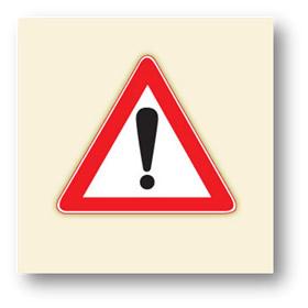 trafik tehlike uyarı işaretleri dikkat