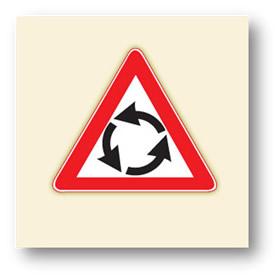 trafik tehlike uyarı işaretleri dönel kavşak