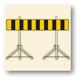 trafik tehlike uyarı işaretleri engel işareti