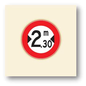 trafik tanzim işaretleri genisligi belirtilenden fazla olan tasit giremez