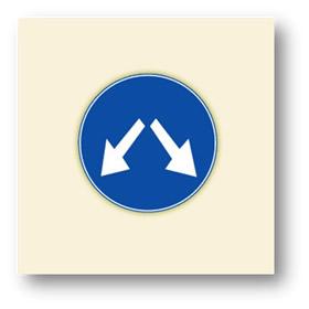 trafik tanzim işaretleri her iki yönden gidilebilir
