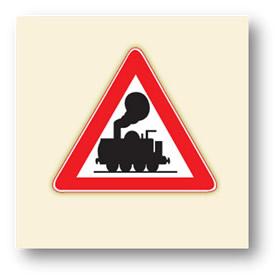 trafik tehlike uyarı işaretleri kontrolsüz demir yolu geçidi