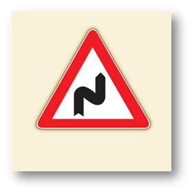 trafik tehlike uyarı işaretleri sağa tehlikeli devamlı virajlar
