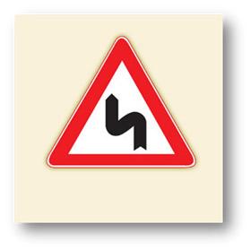 trafik tehlike uyarı işaretleri sola tehlikeli devamlı virajlar