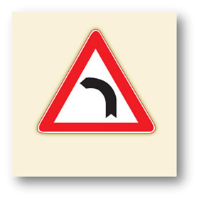 trafik tehlike uyarı işaretleri sola tehlikeli viraj