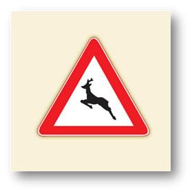 trafik tehlike uyarı işaretleri yaban hayvanlar geçebilir