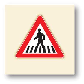 trafik tehlike uyarı işaretleri yaya geçidi