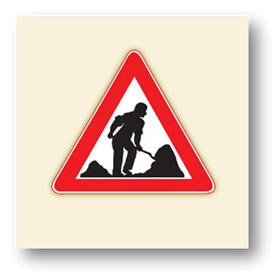 trafik tehlike uyarı işaretleri yolda çalışma