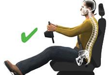 sürüş ergonomisi doğru oturma pozisyonu